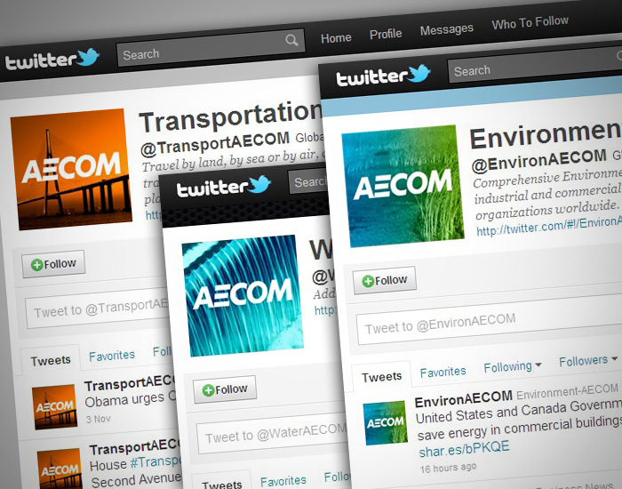 AECOM Twitter icons